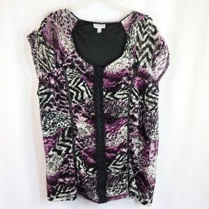 Fashion Bug Lace top size 3X (A)